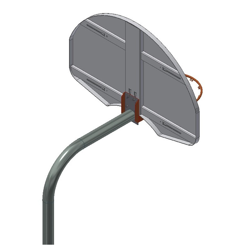 """Gared 4-1/2"""" O.D. Front Mount Gooseneck Post with Braces, 4' Extension (GN45)"""