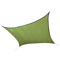 Shelter Logic 12 ft Square Shade Sail - Lime Green (25676)
