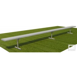 """Gared 7' 6"""" Spectator Bench without Back, Portable (BE08PT)"""