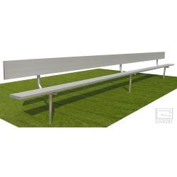 "Gared 7' 6"" Spectator Bench with Back, Inground (BE08IGWB)"