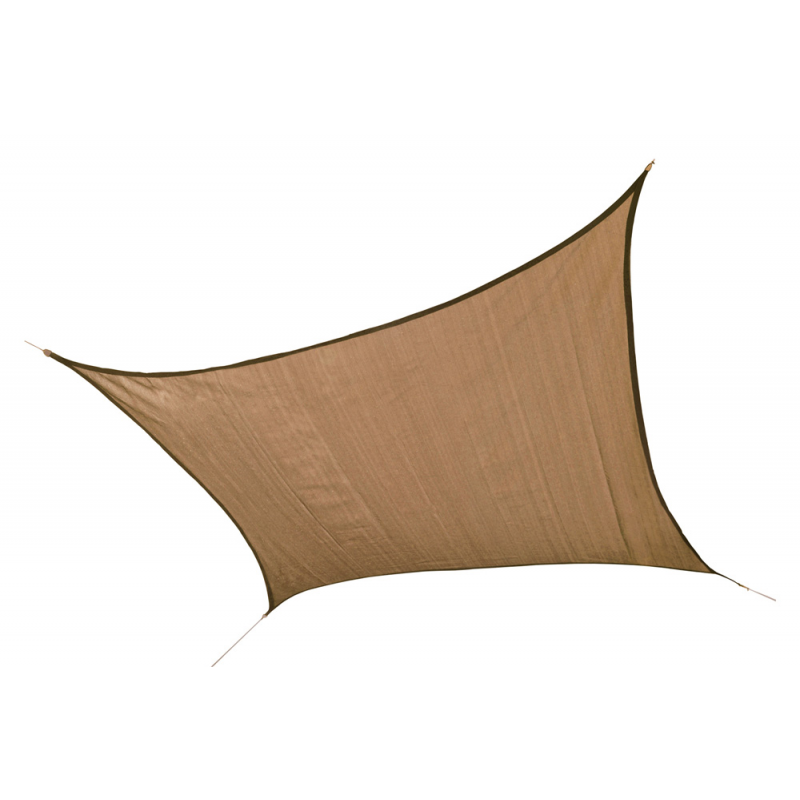 Shelter Logic 12 ft Square Shade Sail - Sand (25722)