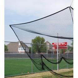 "Gared Outdoor Batting Cage Net, 12' W x 12' H x 70' L, Multi-Sport, 3/4"" Black Mesh (4087)"