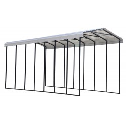 Arrow 14x33x14 Steel RV Carport Kit - Eggshell (CPH143314)