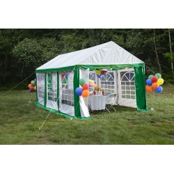 Shelter Logic 10x20 Party Tent Enclosure Kit - Green/White (25899)