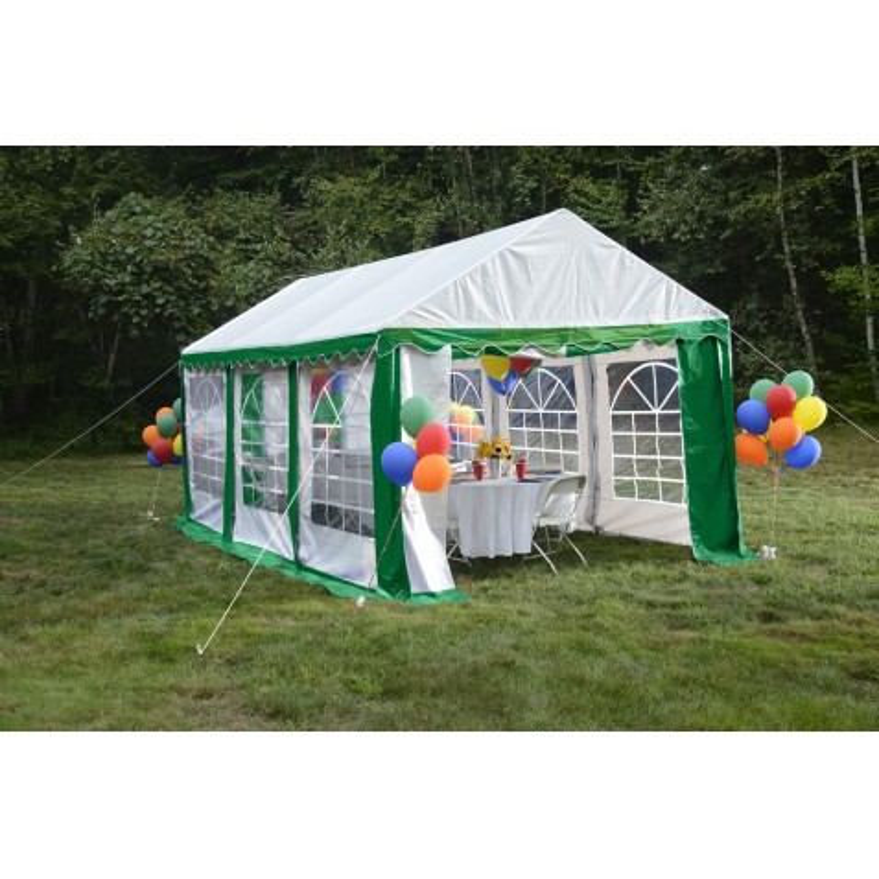 Shelter Logic 10x20 Party Tent Enclosure Kit - Green/White (25899)