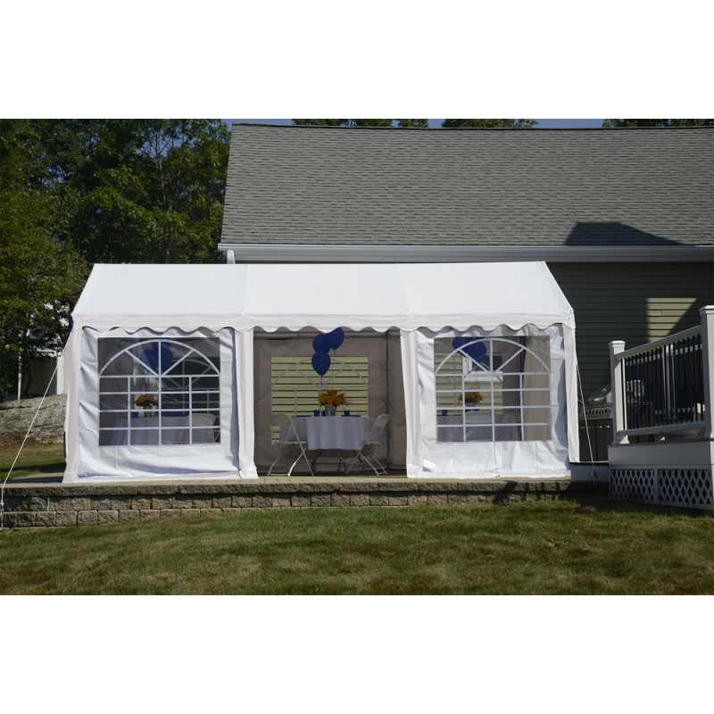 Shelter Logic 10x20 Party Tent Enclosure Kit - White (25897)
