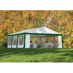 Shelter Logic 20x20/ 6x6m Party Tent Enclosure Kit - Green/White (25922)