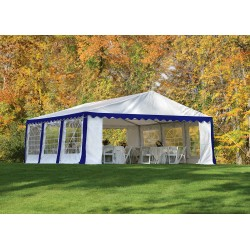 Shelter Logic 20x20/ 6x6m Party Tent Enclosure Kit - Blue/White (25921)