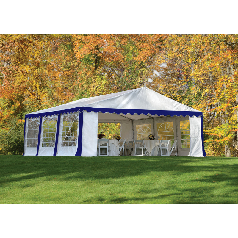 ShelterLogic 20x20/ 6x6m Party Tent Enclosure Kit - Blue/White (25921)