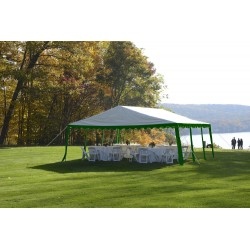 ShelterLogic 20x20/ 6x6m Party Tent  - Green/White (25919)