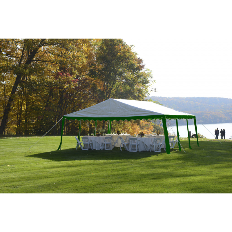 Shelter Logic 20x20/ 6x6m Party Tent - Green/White (25919)