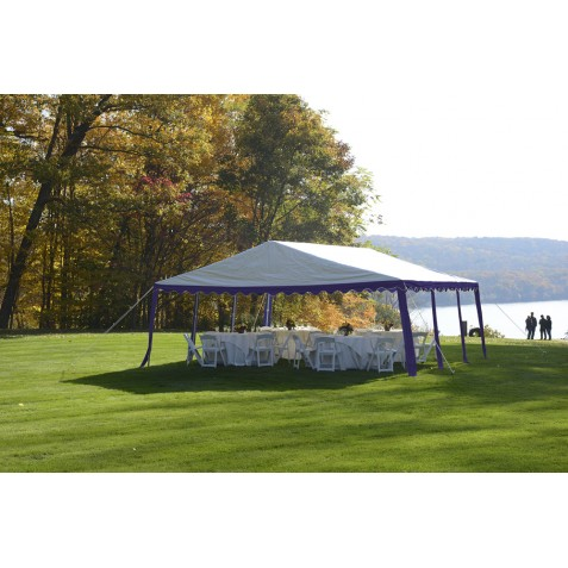 Shelter Logic 20x20/ 6x6m Party Tent  - Blue/White (25918)