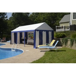 Shelter Logic 10x20 Party Tent Enclosure Kit - Blue/White (25898)