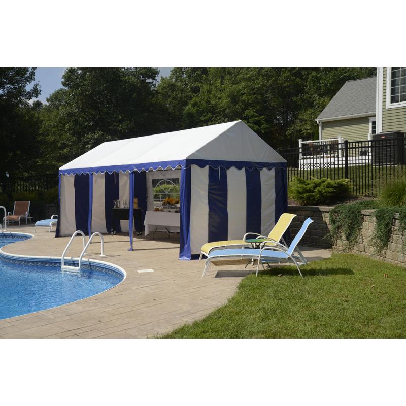 Shelter Logic 10x20 Party Tent Enclosure Kit - Blue/White (25898)