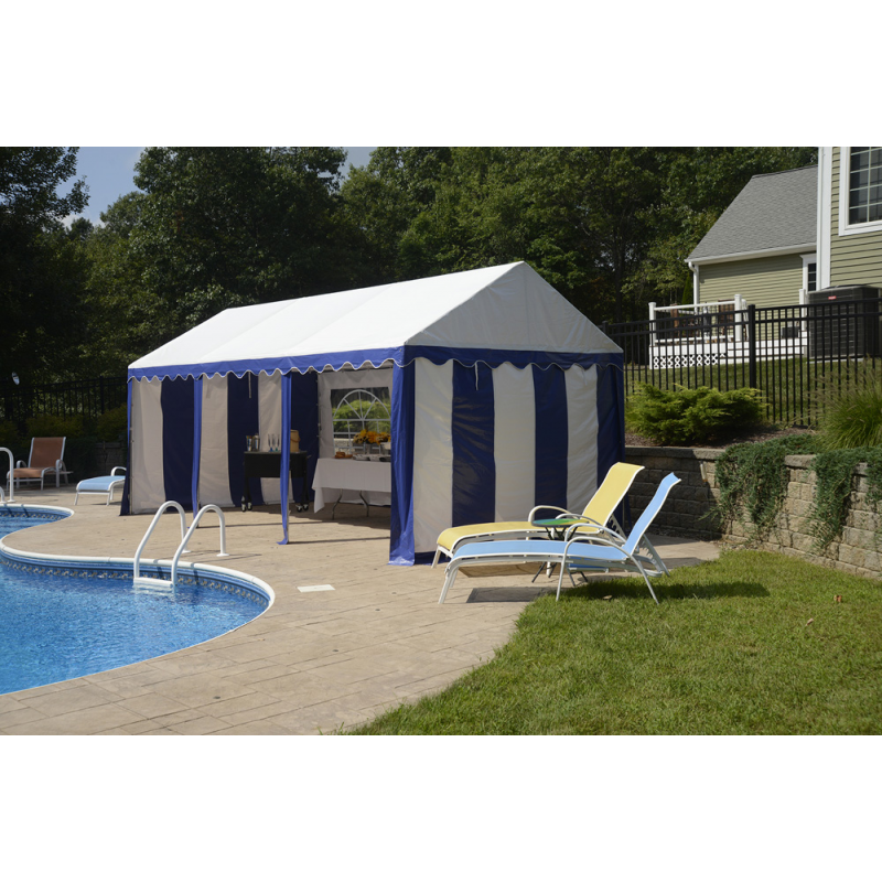 ShelterLogic 10x20 Party Tent Enclosure Kit - Blue/White (25898)