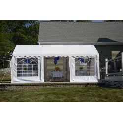 Shelter Logic 10x20 Party Tent Enclosure Kit - White (25890)