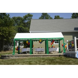 ShelterLogic 10x20 Party Tent  - Green/White (25889)