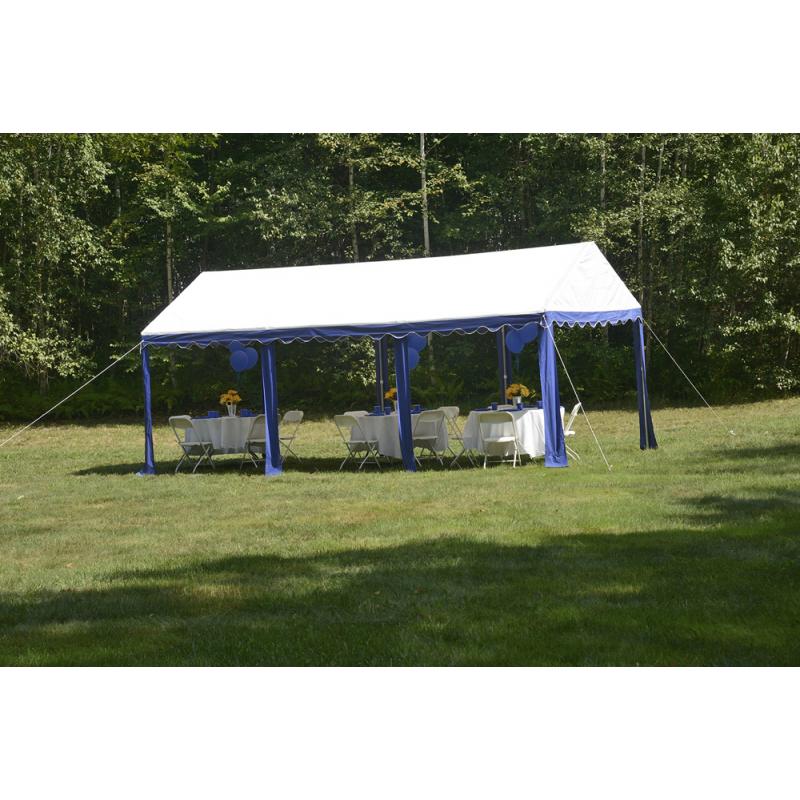 ShelterLogic 10x20 Party Tent - Blue/White (25888)