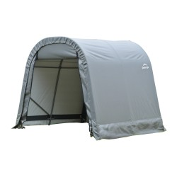 Shelter Logic 8x12x8 Round Style Shelter, Grey (76813)