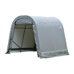 Shelter Logic 8x16x8 Round Style Shelter, Grey (76823)
