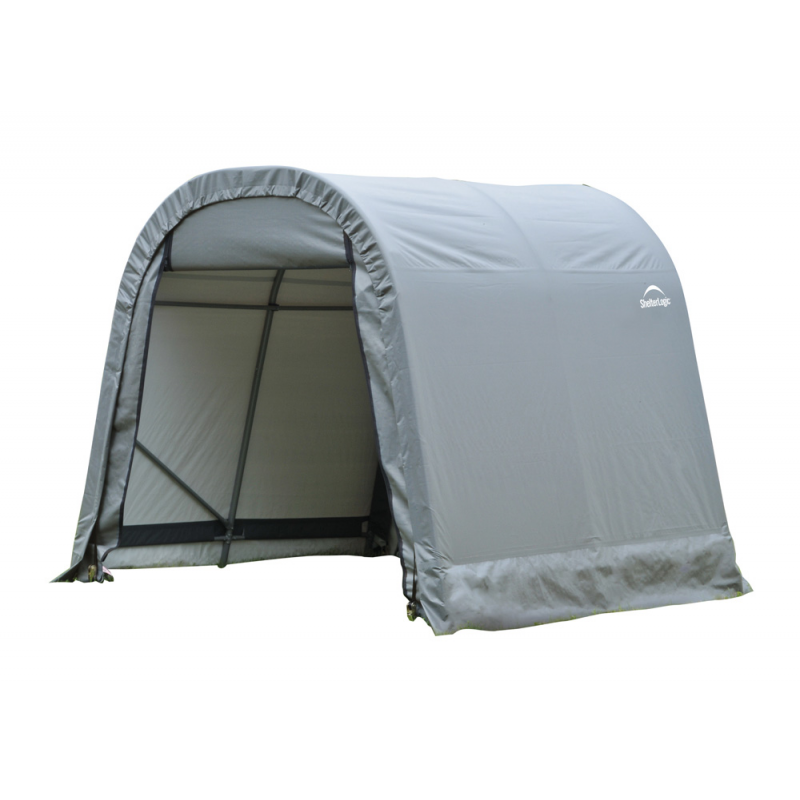 ShelterLogic 8x16x8 Round Style Shelter, Grey (76823)