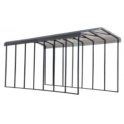 Arrow 14x33x14 Steel RV Carport Kit - Charcoal (CPHC143314)