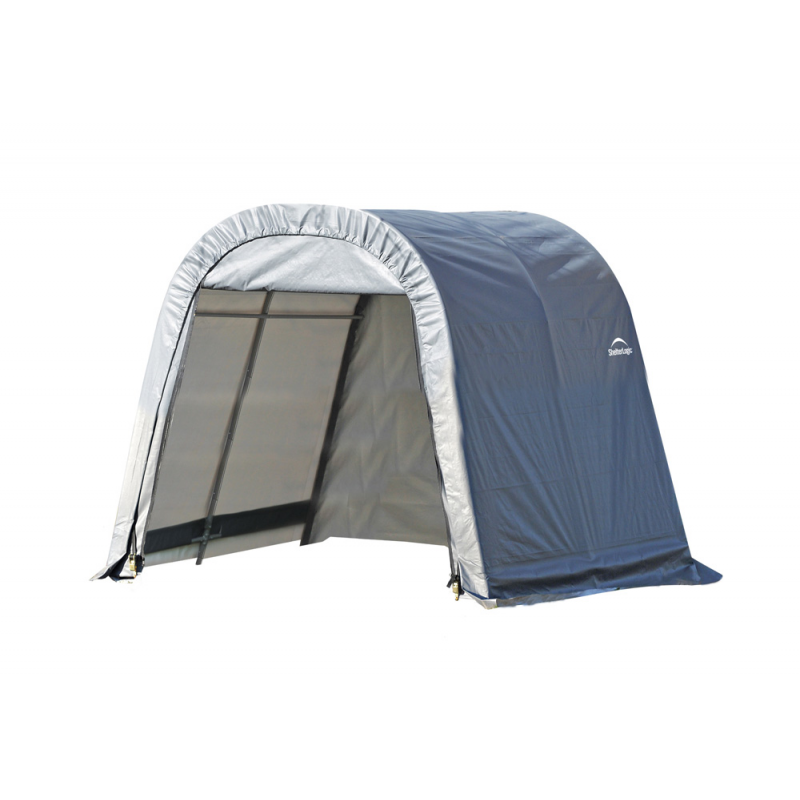 ShelterLogic 10x12x8 Round Style Shelter, Grey (77813)
