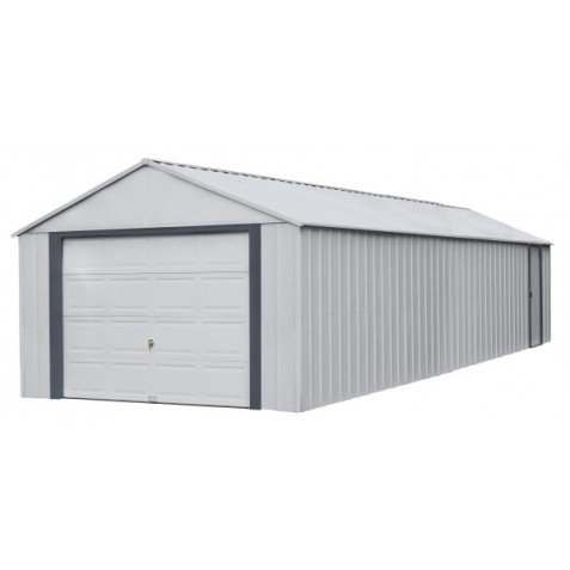 Arrow Vinyl Murryhill 12x31 Garage Steel Storage Shed Kit (BGR1231FG)