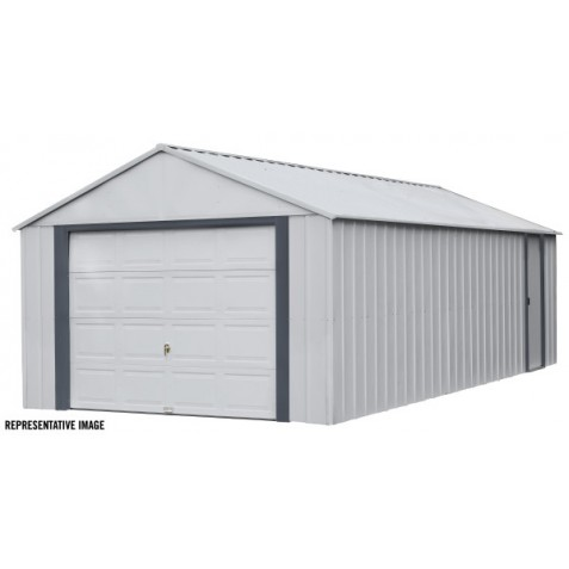 Arrow Vinyl Murryhill 14x21 Garage Steel Storage Shed Kit (BGR1421FG)