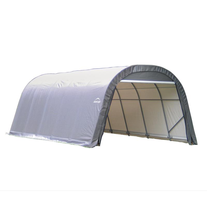 Shelter Logic 12x20x8 Round Style Shelter, Grey (71332)