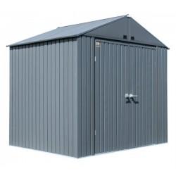 Arrow Elite 8x6 Metal Storage Shed Kit - Anthracite (EG86AN)