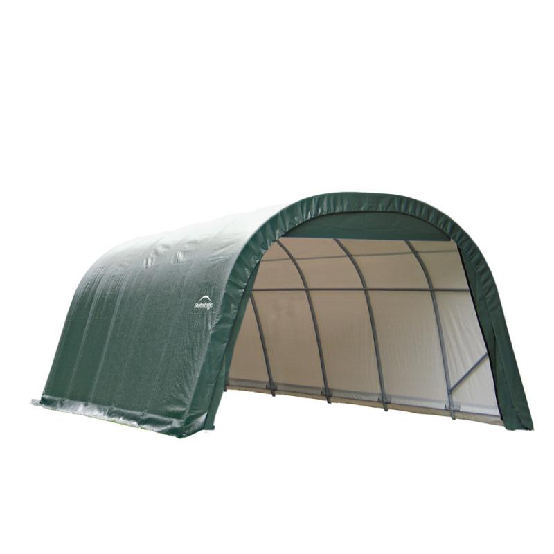 Shelter Logic 12x24x8 Round Style Shelter, Green (72342)