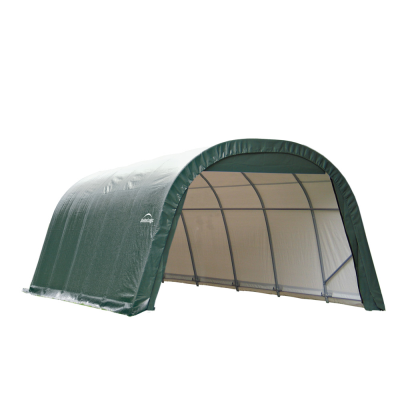 ShelterLogic 12x24x8 Round Style Shelter, Green (72342)