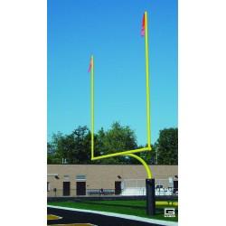 "Gared RedZone 4-1/2"" O.D., 23' 4"" Crossbar, High School Football Goalposts, Yellow (FGHS45IGY)"