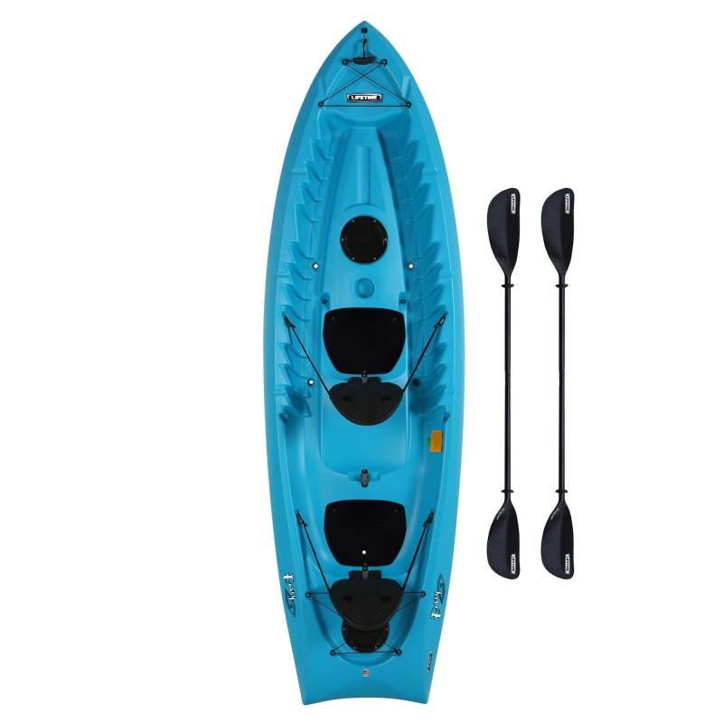 Lifetime Envoy 106 Sit-On-Top Tandem Kayak - Glacier Blue w/ Paddles (90931)