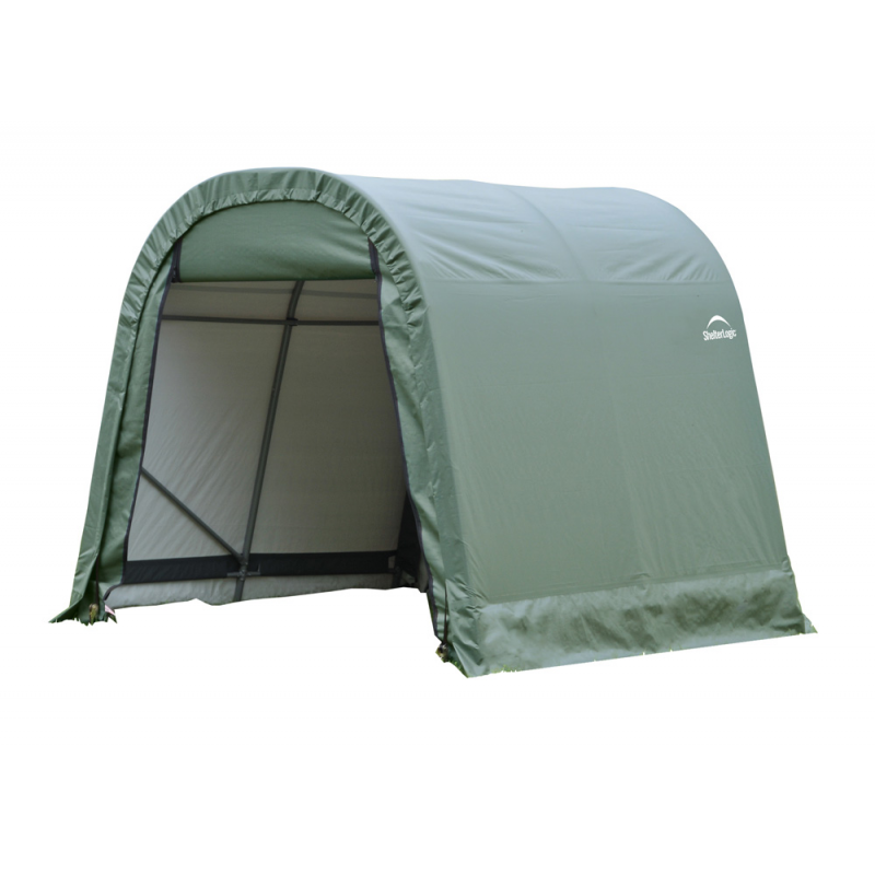 ShelterLogic 11x8x10 Round Style Shelter, Green (77822)