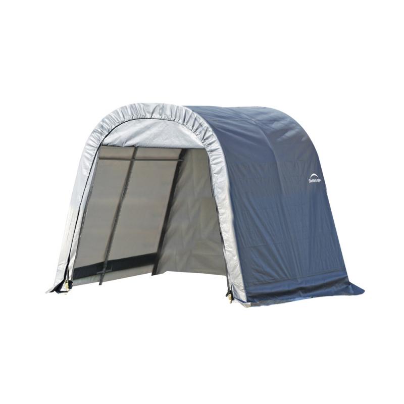 Shelter Logic 11x12x10 Round Style Shelter, Grey (77820)