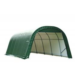 Shelter Logic 12x28x8 Round Style Shelter, Green (76642)