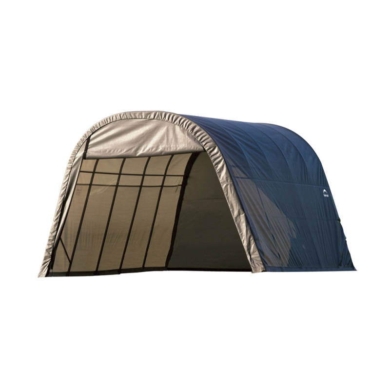 Shelter Logic 13x20x10 Round Style Shelter, Grey (73332)
