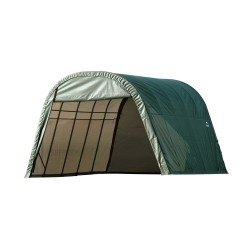 Shelter Logic 13x28x10 Round Style Shelter, Green (90234)