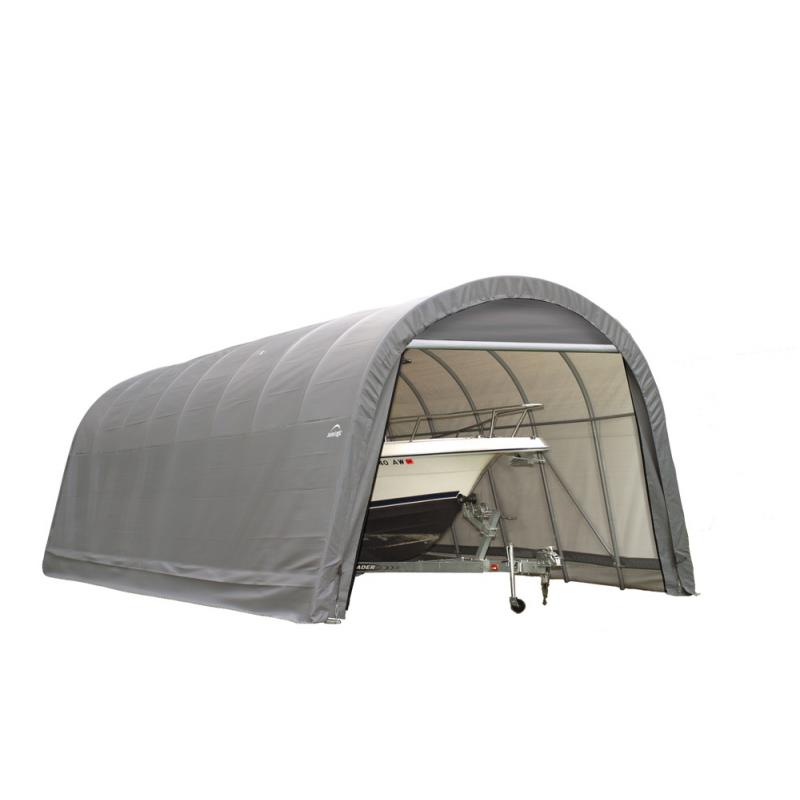 Shelter Logic 14x20x12 Round Style Shelter, Grey (95340)