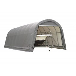 Shelter Logic 14x24x12 Round Style Shelter, Grey (95360)