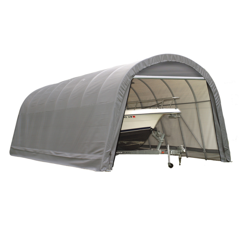 Shelter Logic 13x24x10 Round Style Shelter, Grey (74332)