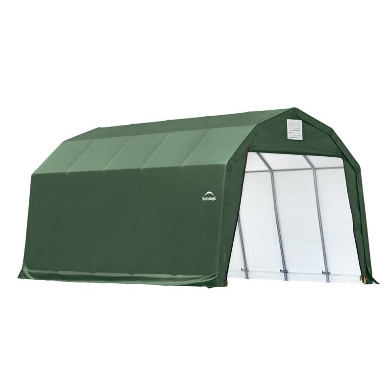 Shelter Logic 12x20x11 Barn Shelter, Green (90054)