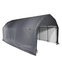 Shelter Logic 12x28x11 Barn Shelter, Grey (90253)