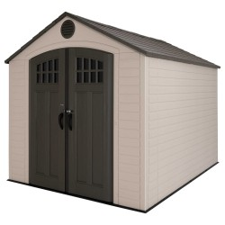 Lifetime 8x10 Outdoor Plastic Storage Shed with Skylights & Window (60332)