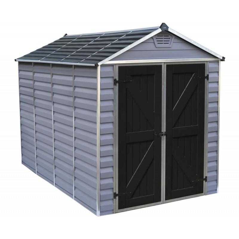 Palram 6x10 Skylight Storage Shed Kit - Gray (HG9610GY)