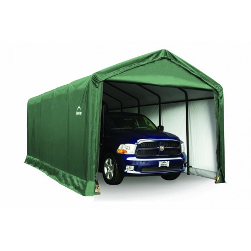 Shelter Logic 12x25x11 ShelterTUBE Storage Shelter, Green (62810)