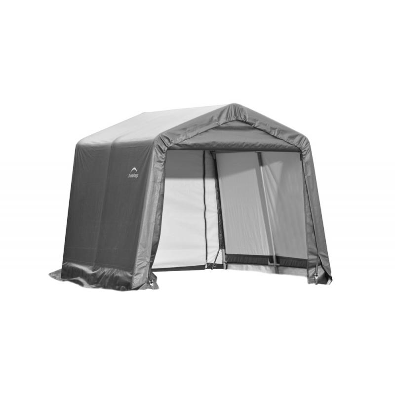 ShelterLogic 10x8x8 Peak Style Shelter, Grey (72803)
