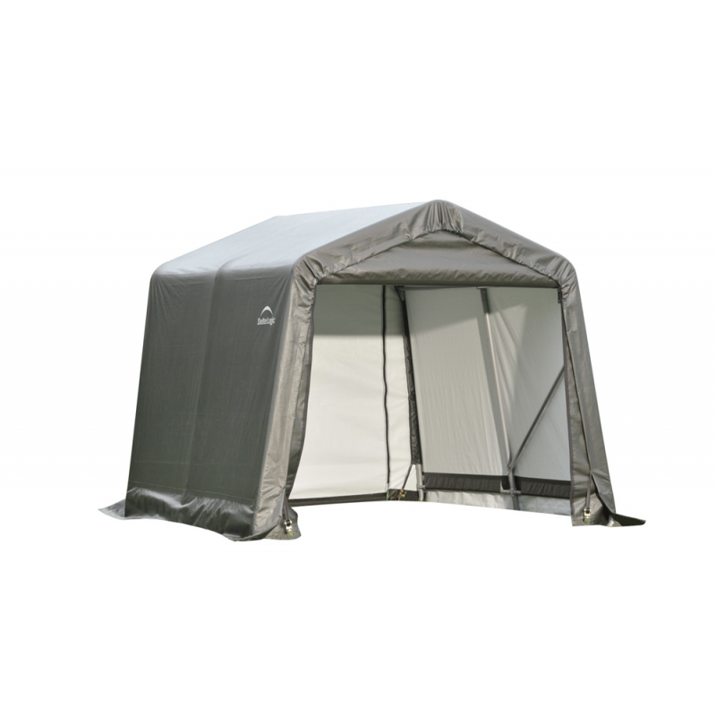 Shelter Logic 8x12x8 Peak Style Shelter, Grey (71813)